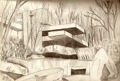 frank_lloyd_wright_floor_plans_viewing_gallery_for_-_frank_lloyd_wright_falling_water_sketch2.jpg 1,600×1,082 pixels