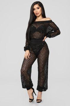 d9d76b00d9ca Caleb Black Sequins Semi-Sheer Open Back Dress | Clothing ~ Chic ...