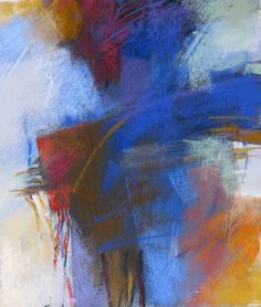 Blue Abstract pastel by Debora L. Stewart