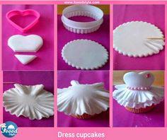 Awesome Dress cupcakes Idea ! - Foood Style