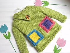 Split Funnel Neck Sweater Blocks of Colo via Craftsy