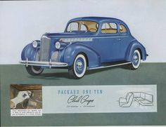 1940 Packard 110 Club Coupe...the 110 was built to save Packard in the Depression, and make it more affordable...