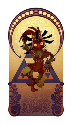 Legend of Zelda Art Nouveau | www.ohmz.net