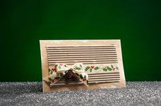 Christmas Card Envelope with A Ribbon Bow by RoyalStyleWeddings