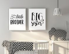 Big Sister Little Brother Wall Art Brother And Sister Room Decor Siblings Art Shared Room Ideas Kids Room Signs Nursery & Bedroom Decor Kids Room Design art Bedroom BIG Brother Decor Ideas Kids Nursery Room shared Siblings signs sister wall Baby And Toddler Shared Room, Boy And Girl Shared Room, Toddler Rooms, Kids Rooms, Play Rooms, Sister Bedroom, Girls Bedroom, Sibling Room, Shared Bedrooms