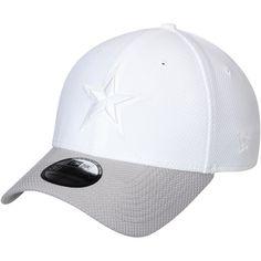 2bfc200efef Men s Dallas Cowboys New Era White Gray Tone Tech Redux 2 39THIRTY Flex Hat