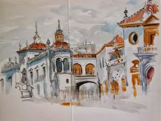June CONTEST! COMMENT on the projects displayed on buildyful.com  WIN 100 USD! Find out more on buildyful.com #architecturestudents~~Urban Sketchers Spain. El mundo dibujo a dibujo.: Sevilla