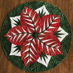 Poinsettia, Quiltworx.com, Made by Deb McGuire Table Topper Patterns, Table Toppers, Foundation Paper Piecing, Square Quilt, Poinsettia, Soft Furnishings, Table Runners, Quad, Fabric Design
