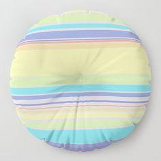 Complex Stripes - Pastel Rainbow Floor Pillow by laec Floor Cushions, Throw Cushions, Cosy, Bean Bag Chair, Pastel, Stripes, Rainbow, House Styles, Artwork