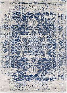 Shop the Rug - Color: Light Gray, Dark Blue; Size: x by Surya. Made from Polypropylene in Turkey. This Machine Made Light Gray, Dark Blue rug has a pile_height, perfect for a soft yet durable addition to your home. Girls Bedroom, Master Bedroom, Bedrooms, Bedroom Rugs, Bedroom Ceiling, Blue Bedroom, Trendy Bedroom, Bedroom Ideas, Kitchen Ikea