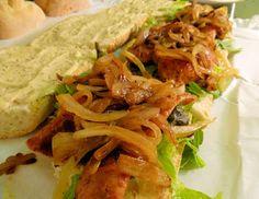 Alligator Po Boys w/ Caramelized Onions & Creole Mayo