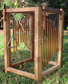 garten spielplatz Outdoor Music Station: Xylophones Wind Chimes by OwensAdventures Preschool Playground, Backyard Playground, Backyard For Kids, Playground Ideas, Backyard Ideas, Children Playground, Garden Kids, Modern Backyard, Wood Playground