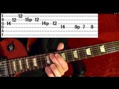 25 Popular Rock Riffs ( 1 of 2 ) Guitar Lesson ♫ ♪ ♫ ♪ - YouTube