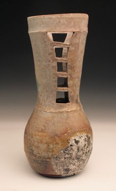 """Jessica Fong: """"Woodfired Bottle"""", 2012, Arrowmont School of Arts and Crafts"""