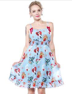 3bbbf74d8b CAT LADY DOLL BABY DRESS. Punk DressVintage Inspired DressesBlue ...
