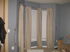 nautical themed curtain rod