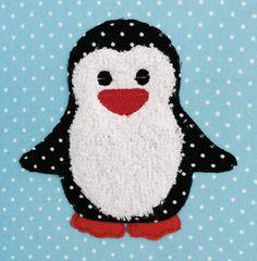 Pinguin Doodle Stickdatei      Größe: ca. 9,9 cm x 9,9 cm     Fransenapplikation     leicht & schnell zu sticken     verfügbare Formate: DST / EDR / EXP / HUS / JEF / PCS / PES / VIP / VP3 /...