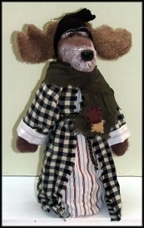 GrandPa Moose Handmade Woodland Moose Doll by Linda Walsh
