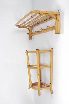 Bamboo Coat Rack & Umbrella Stand 30's