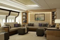 Lounge of a VIP Boeing 747-8. Photo: Greenpoint Technologies
