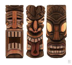 Les 52 Meilleures Images De Tiki Bois Sculpture Bois Bois
