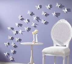 butterfly spray...paper silhoutte cutouts