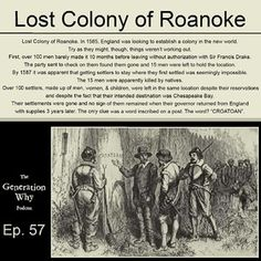 1000+ images about Lost Colony of Roanoke on Pinterest ...