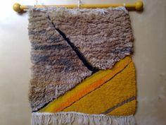 Tapestry hand woven on a vertical loom.9. Mixed media. via Handloomart etsy.