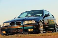 "Very clean BMW e36 compact on OEM BWM Styling 216 ""Individual"" wheels"