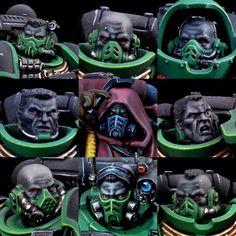 choose your destiny ! Warhammer 40k Salamanders, Salamanders Space Marines, Warhammer 40000, Warhammer Deathwatch, Warhammer Figures, Warhammer Paint, Warhammer Models, Warhammer 40k Miniatures, Marine Colors