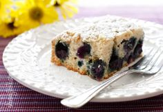 Easy Blueberry Buttermilk Cake from Skinnytaste. Could sacrifice texture a little and make it much healthier...or not :)