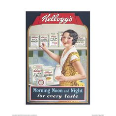In the and centuries was Kelloggs part of a anti-masturbation crusade! Is this true or false? Retro Vintage, Images Vintage, Retro Ads, Vintage Labels, Vintage Signs, Vintage Prints, Vintage Food Posters, Vintage Advertising Posters, Old Advertisements
