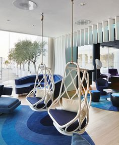 W Barcelona Office, Spain Nautica Ceiling Chairs