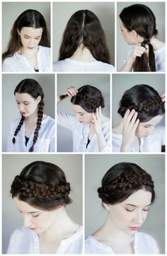 Milk Maid braid DIY. Perfect for when my hair is feeling less than cooperative!