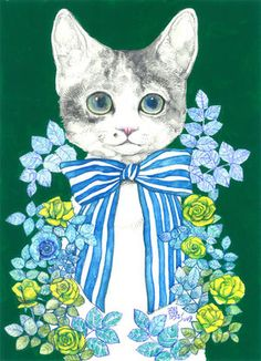 My favorite artist Cat Drawing, Cool Posters, Artist Art, Crazy Cats, Cool Cats, Pet Portraits, Cat Art, Illustrations Posters, Fantasy Art