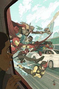 All-New All-Different Avengers #3, an art print by Afu Chan - INPRNT