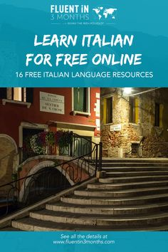 Want to learn how to speak Italian? These free online Italian language lessons are a great place to start. Audio, video and written Italian lessons. German Language Learning, Language Study, Language Lessons, Language Classes, Learn Italian Free, Learn To Speak Italian, Learn French, Learn Italian Language, Free Italian Lessons