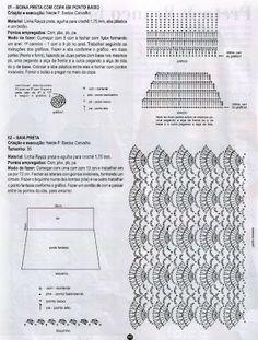 Háčkovaná sukýnka schéma 1