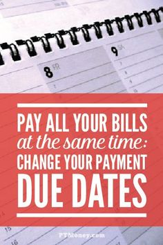 Are you looking for an easy way to simplify part of your monthly finances? PT tells you how to switch your payment due dates on all of your bills to the same day. It will also help you avoid all those late fees! http://ptmoney.com/pay-all-your-bills-at-the-same-time-change-your-payment-due-dates/