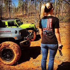 Jeep Wrangler JK American Flag T-Shirt #itsajeepshirt