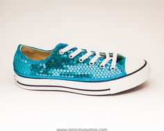 Malibu Blue Sequin Converse® Low Top Sneakers. Sequin ConverseTiffany Blue  BoxConverse Low TopsMalibu BlueBlue CanvasYour ShoesShoes Sneakers SequinsLoafers ... 50b64749d5cc