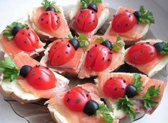 Posts about Cute Food Presentation written by Kelly Toups Cute Food, Good Food, Yummy Food, Easter Lunch, Snacks Für Party, Birthday Snacks, Best Appetizers, Ladybug Appetizers, Ladybug Snacks