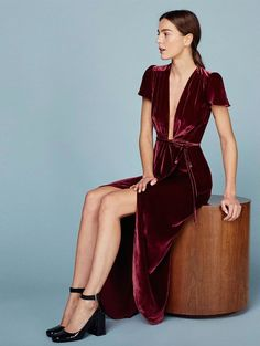 Upgrade your holiday wardrobe with this gorgeous velvet number.