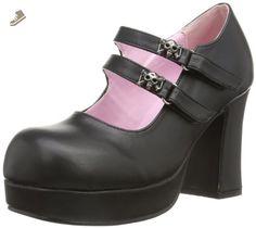 62ba6aaaa41 Pleaser Women s Gothika Goth Punk Lolita Multiple Strap Sandal