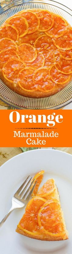 Orange Marmalade Cake ~ Moist and tender and loaded with orange flavor - a ray of sunshine on a plate! www.savingdessert.com