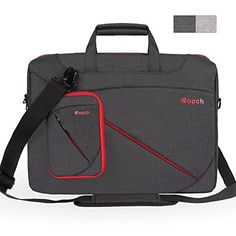 From 17.99 Ropch 15.6 Inch Laptop Shoulder Bag Notebook Messenger Bag Water Resistant Carrying Case Laptop Sleeve For 15-inch Acer / Asus / Dell / Hp / Lenovo - Black