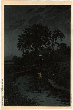Minuma River, Omiya by Kawase Hasui / 大宮見沼川 川瀬巴水