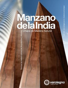 Chapa de Madera Natural Manzano de la India de VEROLEGNO