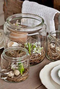 kreative tischdeko zum frühling ideen für ostern tischdekoration