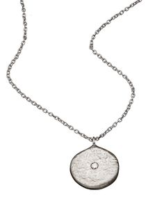 Adel Chefridi Full Moon Pendant Necklace Max And Chloe, Square Rings, Full Moon, Fine Jewelry, Jewellery, Pendant Necklace, Diamond, Silver, Harvest Moon